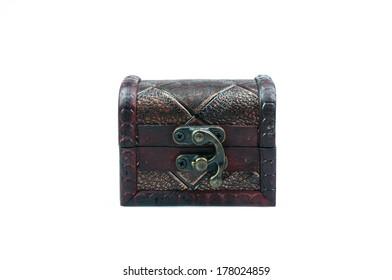 treasure chest on white background