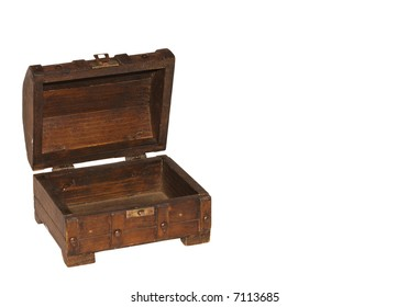 Treasure Chest, open and empty