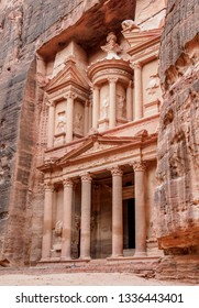 The Treasury, Al-Khazneh, Petra, Ma'an Governorate, Jordan