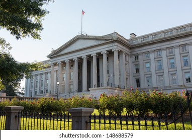 Treasury Building in Washington, D.C. is a National Historic Landmark building which is the headquarters of the United States Department of the Treasury.