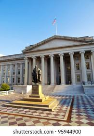 The Treasury Building in Washington, D.C., USA