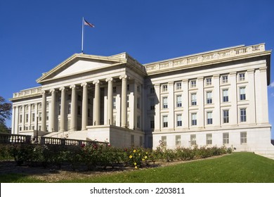 Treasury Department building - a landmark in Washington, DC