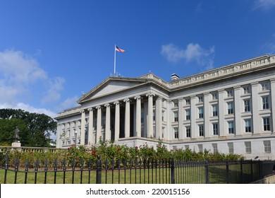 The Treasury Department Building in Washington DC - USA