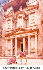 The Treasury in the Edomite city of Petra, Jordan.  It is known as Al Khazneh.