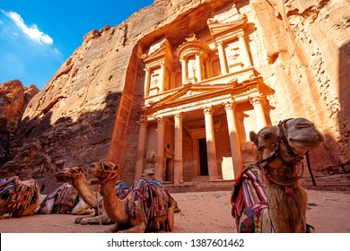 Treasury palace in Petra, Jordan