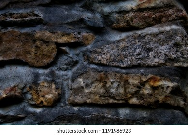 Treated rockface closeup