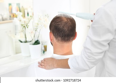 Treatment against hair loss. Oxygen mesotherapy