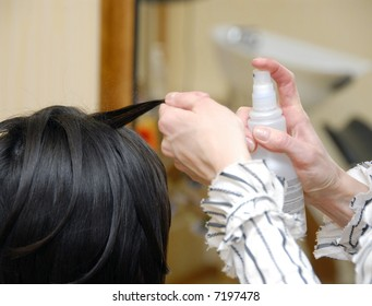 treatment for hairs in a beauty salon