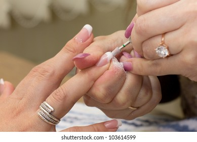 treatment of the nail during manicure