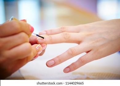 Treatment at nail salon