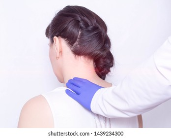 Treatment of pain in the cervical spine using physiotherapy laser therapy, inflammation, modern method, protrusion