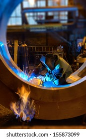 Treatment process at the plant of heavy mechanical engineering