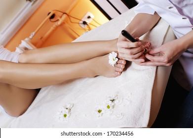 treatments in the spa salon