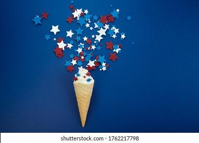 Behandlungen der Unabhängigkeit Tag. 4. Juli mit Eis