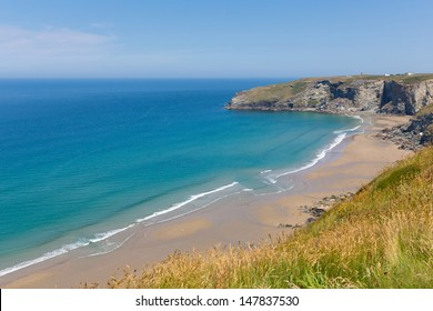 Trebarwith Strand beach and coast Cornwall England UK