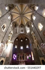 TREBIC, CZECH REPUBLIC, 5th SEPTEMBER 2016 - gothic basilica Saint Procopius in Trebic, UNESCO site