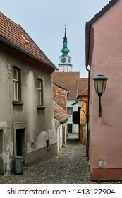 Trebic, Czech Republic - April 26, 2019: Jewish quarter in Trebic, Czech republic, UNESCO site