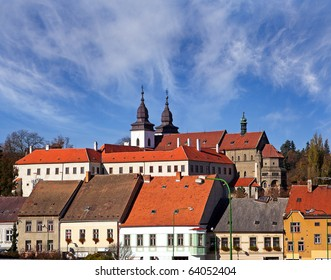 Trebic, old monastery and St. Procopus Basilica (1240-1260) - one of the most prominent Romanesque-Gothic buildings in Europe, UNESCO