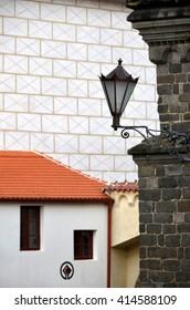 Trebic. Trebic is UNESCO town in Czech republic. St. Procopius Basilica - detail.