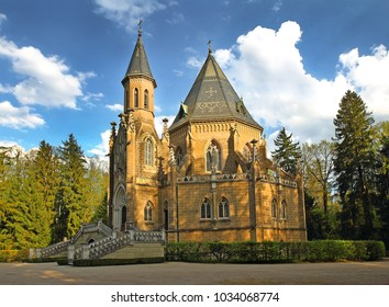 TREBON, CZECH REPUBLIC - APRIL 29, 2012: The Schwarzenberg Tomb in Southern Bohemina nearby town of Trebon. Trebon is a old historical town