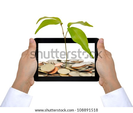 the tree and coin on touch pad PC