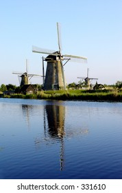 Tree Dutch windmills