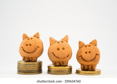 Tree Little Pigs on Coins
