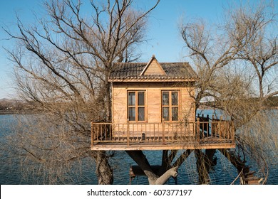 treehouse on the lake