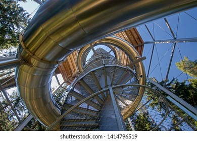 Treetop walkway tower in Lipno nad Vltavou