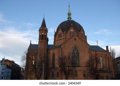 The Trefoldighets church in Oslo