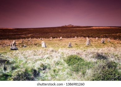 Tregeseal Stone Circle, Ancient Site, near St Just, Cornwall UK