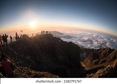 Trek in Indonesia volcano