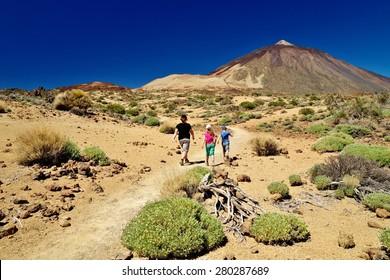 Trek through Las Canadas National park, Pico del Teide, Tenerife