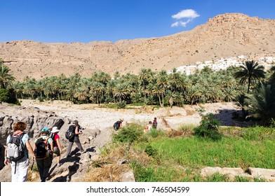 Trek in Wadi Bani Khalid - Sultanate of Oman