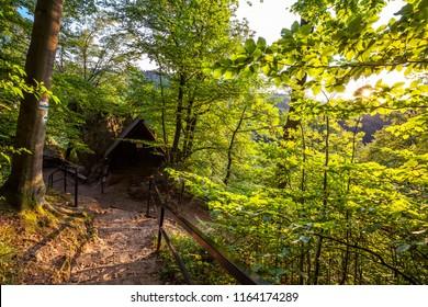 Treking walkway in Jura upland