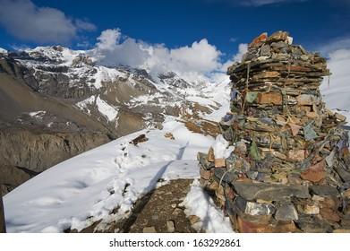 Trekking around the Annapurna. Himalayas, Nepal
