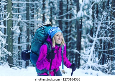 Trekking in the Canadian mountains.Hike is the popular recreation activity in North America.