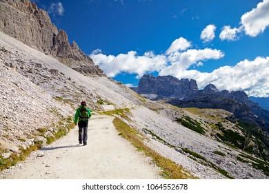 Trekking in Dolomites, Italy