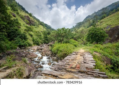 Trekking - Footbridge, Knuckles Range Mountains, Sri Lanka, December 2017