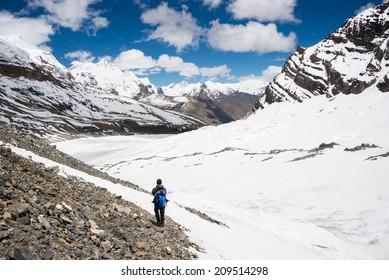 Trekking in himalayas, Mustang, Nepal