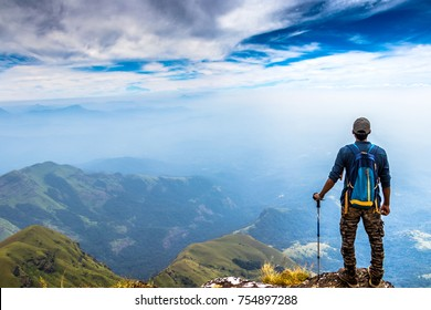 Trekking at Kudremukh, Karnataka, India