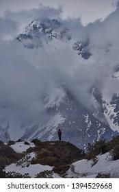 trekking machapuchare mountain and Himalayas