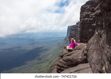 Trekking Mount Roraima in Venezuela, South America.