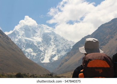 trekking in the mountain salkantay
