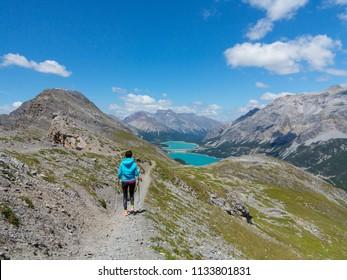 Trekking in mountain, tourism in Valtellina