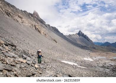 Trekking in the Muverans,Tour of the Muverans, Bernese Alps, Switzerland