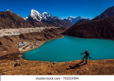 Trekking in Nepal, Gokyo Lake, Everest region