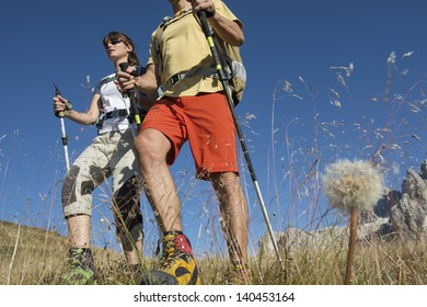 Trekking and nordic walking in the Dolomite