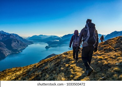 Trekking on Lake Como