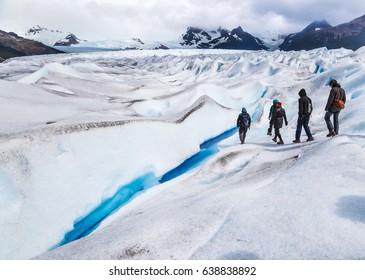 Trekking the Perito Moreno glacier in Argentina